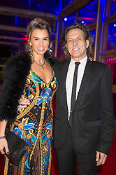 STEPHEN & ASSIA WEBSTER at the Battersea Dogs & Cats Home's Collars & Coats Gala Ball held at Battersea Evolution, Battersea Park, London on 12th November 2015.