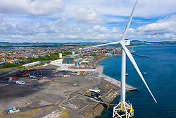 Aerial view of Burntisland Fabrications Ltd ( BiFab) yard at Methil in Fife, Scotland, UK