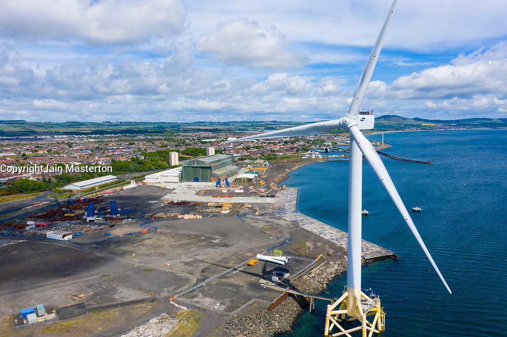 Aerial view of Burntisland Fabrications Ltd ( BiFab) yard at Methil in Fife, Scotland, UK