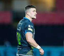 Scott Williams of Ospreys<br /> <br /> Photographer Simon King/Replay Images<br /> <br /> European Rugby Champions Cup Round 1 - Ospreys v Munster - Saturday 16th November 2019 - Liberty Stadium - Swansea<br /> <br /> World Copyright © Replay Images . All rights reserved. info@replayimages.co.uk - http://replayimages.co.uk