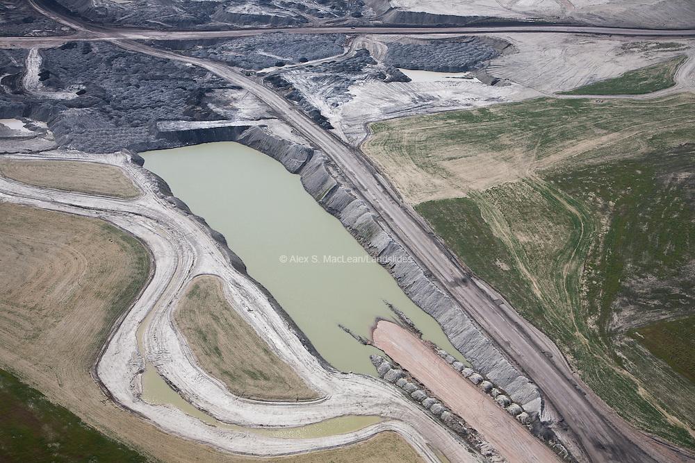 Coal mining in the Powder River Basin.