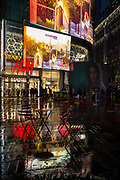 New-York Times Square under the rain.
