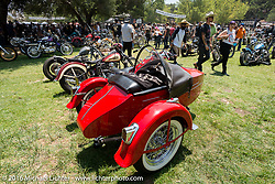 Featured bike area at the Born Free Motorcycle Show-8 at the Oak Canyon Ranch. Silverado, CA, USA. Saturday June 25, 2016.  Photography ©2016 Michael Lichter.