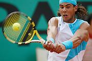 Roland Garros. Paris, France. June 6th 2007..1/4 Finals..Rafael NADAL against Carlos MOYA..