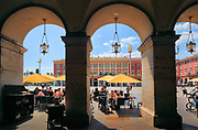 Cafe at Place Massena in downtown Nice on the French Riviera (Cote d'Azur)