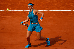 June 4, 2018 - Paris, U.S. - PARIS, FRANCE  - JUNE 04: CAROLINE GARCIA(FRA) during French Open on June 04, 2018, at Stade Roland-Garros in Paris, France.(Photo by Chaz Niell/Icon Sportswire) (Credit Image: © Chaz Niell/Icon SMI via ZUMA Press)