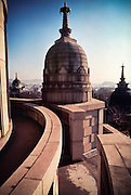 A dome on the top of an old building in Japan