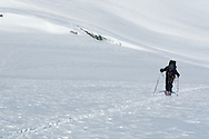 Trekking doesn't always have to be on foot. Ski-touring in the Saas Valley, Switzerland