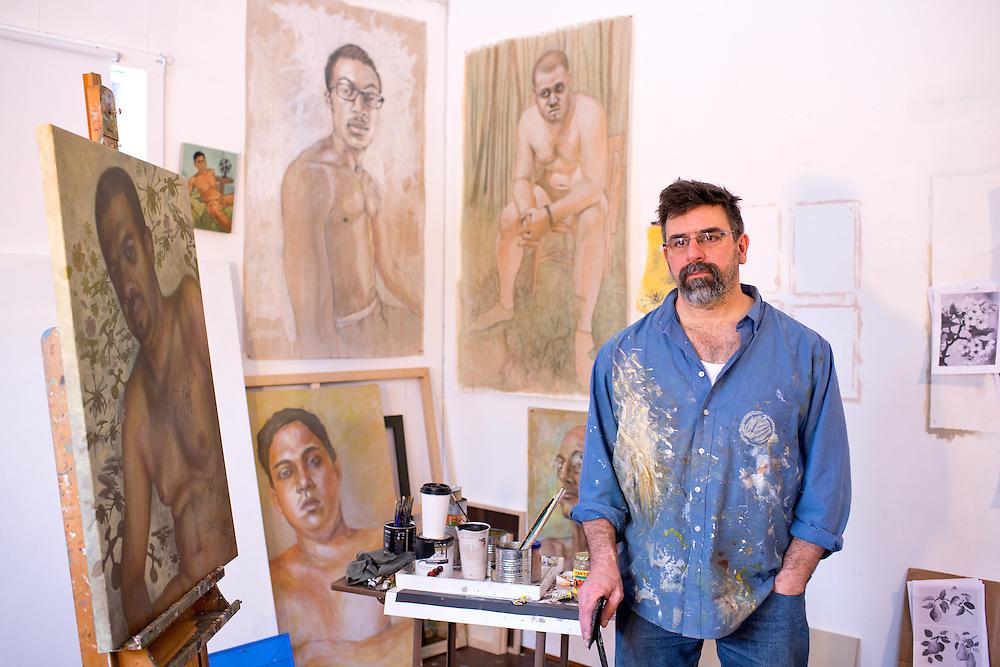 Joe Radoccia in his studio Portraits of Artists and Performers in Metro New York Area