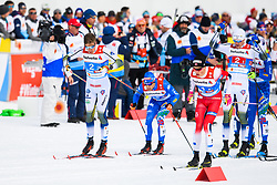 February 24, 2019 - Seefeld In Tirol, AUSTRIA - 190224 Calle Halfvarsson of Sweden and Johannes HÂ¿sflot Kl¾bo of Norway competes in menÃ•s team sprint final during the FIS Nordic World Ski Championships on February 24, 2019 in Seefeld in Tirol..Photo: Vegard Wivestad GrÂ¿tt / BILDBYRN / kod VG / 170296 (Credit Image: © Vegard Wivestad Gr¯Tt/Bildbyran via ZUMA Press)