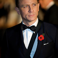 London.  October 29, 2008.  Actor Daniel Craig attends the royal world premiere of 'Quantum of Solace,' the 22nd film in the James Bond franchise, at the Odeon Theater in Leicester Square on October 29, 2008.  (Photo by Mark Bryan Makela)