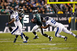 Philadelphia Eagles quarterback Michael Vick #7 runs the ball during the NFL Game between the Indianapolis Colts and the Philadelphia Eagles. The Eagles won 26-24 at Lincoln Financial Field in Philadelphia, Pennsylvania on Sunday November 7th 2010. (Photo By Brian Garfinkel)