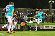 Forest Green Rovers George Williams(11) shoots at goal during the EFL Sky Bet League 2 match between Forest Green Rovers and Stevenage at the New Lawn, Forest Green, United Kingdom on 21 August 2018.