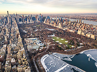 Aerial view of Central Park in Manhattan, New York, United States.