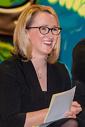 © Licensed to London News Pictures. 27/01/2020. Oxford, UK. Rebecca Long-Bailey prepares to speak at a Labour leadership campaign event held in the Glow Hall at the Blackbird Leys Community Centre in Oxford. Photo credit: Peter Manning/LNP