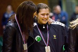 Anja Argenti and Biljana Culibrk at last 10th Round handball match of Slovenian Women National Championships between RK Krim Mercator and RK Olimpija, on May 15, 2010, in Galjevica, Ljubljana, Slovenia. Olimpija defeated Krim 39-36, but Krim became Slovenian National Champion. (Photo by Vid Ponikvar / Sportida)