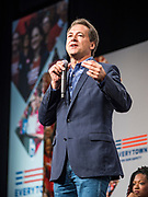 10 AUGUST 2019 - DES MOINES, IOWA: Governor STEVE BULLOCK, (D-MT), a Democratic Presidential candidate, answers questions from gun violence survivors at the Presidential Gun Sense Forum. Several thousand people from as far away as Milwaukee, WI, and Chicago, came to Des Moines Saturday for the Presidential Gun Sense Forum. Most of the Democratic candidates for president attended the event, which was organized by Moms Demand Action, Every Town for Gun Safety, and Students Demand Action.              PHOTO BY JACK KURTZ