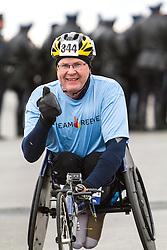 ING New York CIty Marathon: wheelchair athlete warms up prior to start of race, Paul Erway, Kentucky