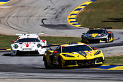 October 15-17, 2020. IMSA Weathertech Petit Le Mans: #3 Corvette Racing Corvette C8.R, GTLM: Antonio Garcia, Jordan Taylor, Nicky Catsburg