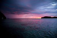 Sunset and Rain Storm, Togean Islands, Indonesia