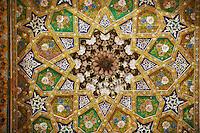Ouzbekistan, Boukhara, patrimoine mondial de l Unesco, plafond de la mosquee Bolo Haouz // Uzbekistan, Bukhara, Unesco world heritage, roof of the Bolo Haouz mosque