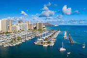 Ala Wai Yacht Harbour, Waikiki, Honolulu, Oahu, Hawaii