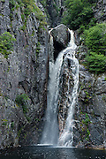 Waterfall in the Western Brook pond in the Unesco world heritage sight, Gros Mourne National Park, Newfoundland, Canada