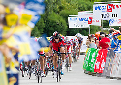 02.07.2013, Osttirol, AUT, 65. Oesterreich Rundfahrt, 3. Etappe, Heiligenblut - Matrei in Osttirol, im Bild Thor Hushovd (NOR, BMC Racing Team) beim Zielsprint // during the 65 th Tour of Austria, Stage 3, from Heiligenblut to Matrei, Tyrol, Austria on 2013/07/02. EXPA Pictures © 2013, PhotoCredit: EXPA/ Johann Groder