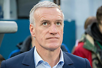 SAINT PETERSBURG, RUSSIA - MARCH 27: RUSSIA-FRANCE. International friendly football match at Saint Petersburg Stadium on March 27, 2018 in Saint-Petersburg, Russia. French's coach Didier Deschamps. (Photo by MB Media/Getty Images)
