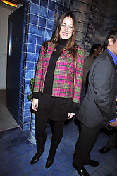 CRESSIDA WILSON at the Prada Congo Art Party hosted by Miuccia Prada and Larry Gagosian at The Double Club, 7 Torrens Street, London EC1 on 10th February 2009.