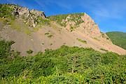 Mountain side on Cabot Trail <br /> Cape Breton Highlands National Park<br /> Nova Scotia<br /> Canada