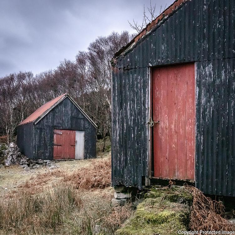 Fishing huts II, Arcasaid Bheag, Ardnamurchan, Highland, Scotland.
