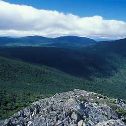 The view towards Spaulding Mountain and the Appalachian Trail from Mt. Abraham.Kingfield, ME