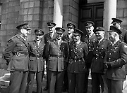 23/08/1958<br /> 08/23/1958<br /> 23 August 1958<br /> Army officers for peacekeeping duty in the Lebanon (3rd Batt) at GHQ, Commandant Breen's office.