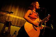 Israeli singer Paz Glazer is performing at Bialik pab in Tel Aviv. Oct 22, 2007.