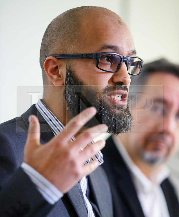 © Licensed to London News Pictures. 26/02/2015. LONDON, UK. Asim Qureshi from CAGE human rights organisation talk to media about British man Mohammed Emwazi, who believed to be Islamic State militant known as 'Jihadi John' during a press conference in central London on Thursday, 26 February 2015. Photo credit : Tolga Akmen/LNP