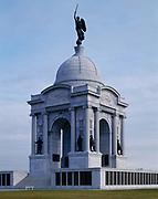 Pennsylvania Memorial on Cemetery Ridge, Civil War Battle of Gettysburg, Gettysburg National Military Park, Pennsylvania.