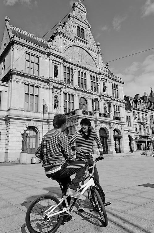 Royal Dutch Theatre, Sint-Baafsplein Square, Ghent, Belgium, Europe