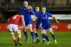 Manuel Zuliani of Italy in action <br /> <br /> Photographer Craig Thomas/Replay Images<br /> <br /> U20 Six Nations - Wales v Italy  - Friday 31st January 2020 - Stadiwm Zip World (Parc Eirias) - Colwyn Bay<br /> <br /> World Copyright © Replay Images . All rights reserved. info@replayimages.co.uk - http://replayimages.co.uk
