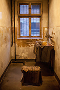 "The washroom where woman stripped before execution. Then they were led in twos to the yard and shot at the ""Death Wall"". It is estimated that between 1.1 and 1.5 million Jews, Poles, Roma and others were killed in Auschwitz during the Holocaust between 1940-1945. The 27th of January 2015 is the 70th anniversary of the liberation of Auschwitz."