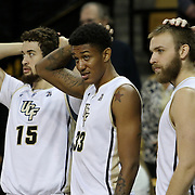 ORLANDO, FL - DECEMBER 31:  UCF players watch from the bench during an NCAA basketball game between the Tulsa Golden Hurricane and the UCF Knights at the CFE Arena on December 31, 2014 in Orlando, Florida. (Photo by Alex Menendez/Getty Images) *** Local Caption ***