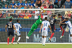 July 19, 2017 - Philadelphia, Pennsylvania, U.S - Man of the match Costa Rica goalkeeper  PATRICK PEMBERTON (18) saves a shot on goal during CONCACAF Gold Cup 2017 action at Lincoln Financial Field in Philadelphia, PA.  Costa Rica defeats Panama 1 to 0. (Credit Image: © Mark Smith via ZUMA Wire)