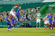 GOAL 1-2, by Sebastián Coates head kick during the Liga NOS match between Sporting Lisbon and Belenenses SAD at Estadio Jose Alvalade, Lisbon, Portugal on 21 April 2021.