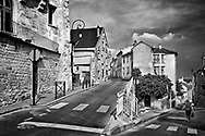 The same Carrieres-sur-Seine location painted by Maurice Vlaminck is still an interesting view of the village. The two streets and the buildings are much the same as they were in the late 1800's in this quaint French village.  Aspect Ratio 1w x 0.667h.