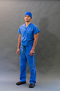 Male Emergency Room doctor photographed in a studio