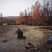 Construction yard between Pedrogão Grande and Figueiró dos Vinhos destroyed by June's fires.