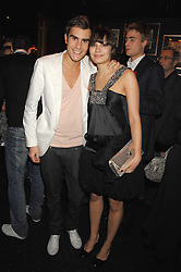 OSCAR HUMPHRIES and SARA PHILIPPIDIS at a party to celebrate the publication of the 2007 Tatler Little Black Book held at Tramp, 40 Jermyn Street, London on 7th November 2007.<br />