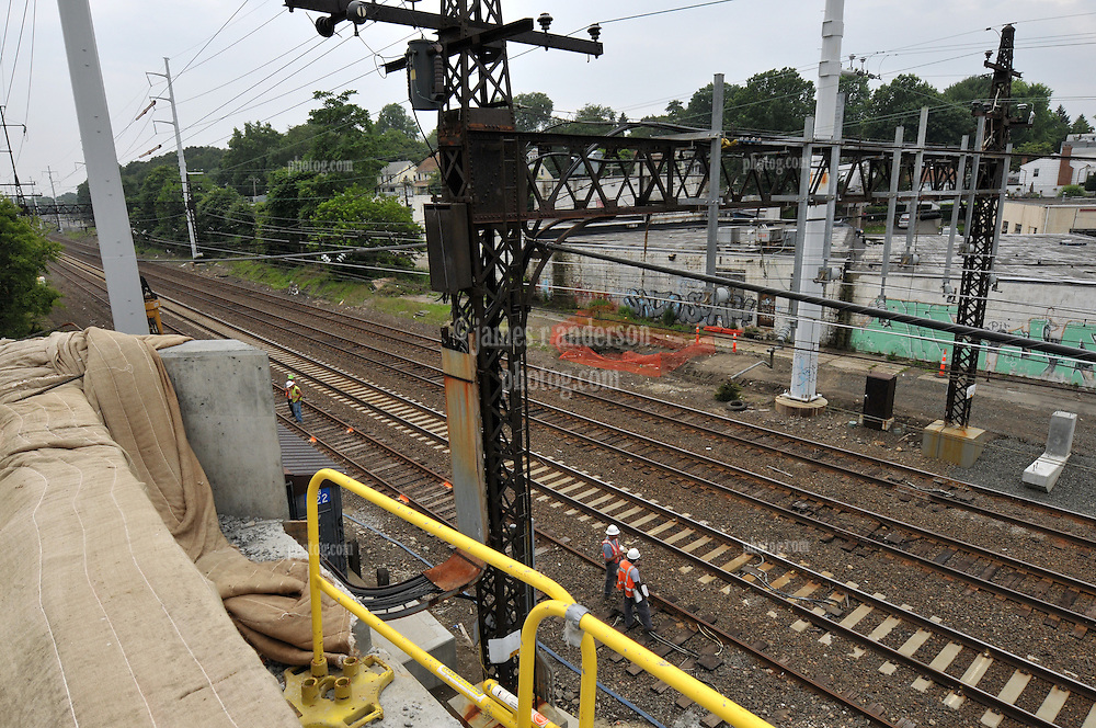 Additional View taken during Construction Progress Photography of the Railroad Station at Fairfield Metro Center - Site visit 12 of once per month Chronological Documentation.