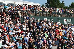 June 25, 2017 - Cromwell, Connecticut, U.S - The crowd on the 18th hole during the final round of the Travelers Championship at TPC River Highlands in Cromwell, Connecticut. (Credit Image: © Brian Ciancio via ZUMA Wire)
