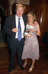 BORIS JOHNSON MP and his sister RACHEL at a party to celebrate the publication of Wicked - A Tale of Two Schools by Jilly Cooper held at Westminster School, Dean's Yard, London on 11th May 2006.<br /><br />NON EXCLUSIVE - WORLD RIGHTS